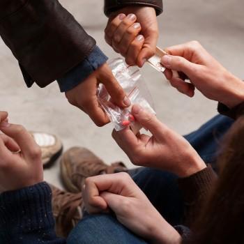 Close da compra de drogas